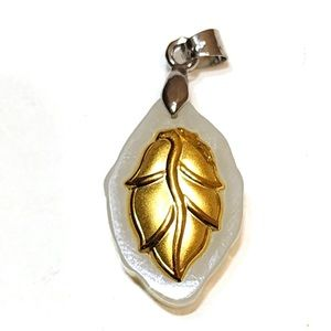 24k real gold with type A lucky real jade pendant